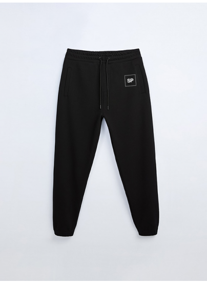 Black SP Monogram Sweatpants